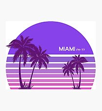 Synthwave - Miami FM-77 Photographic Print