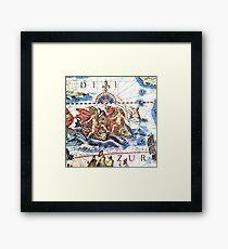 Neptune Ancient Maritime Map Framed Print