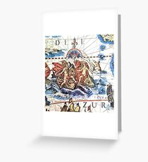 Neptune Ancient Maritime Map Greeting Card
