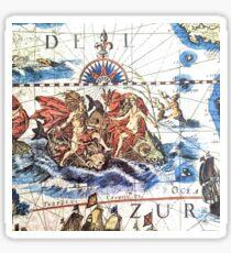 Neptune Ancient Maritime Map Sticker