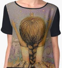 reach for the stars Women's Chiffon Top