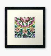 Abstract Sun Rays Mosaic Framed Print
