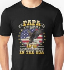 Papa the Legend Birth Year 1941 T-Shirt
