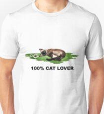 100% Cat Lover  Unisex T-Shirt