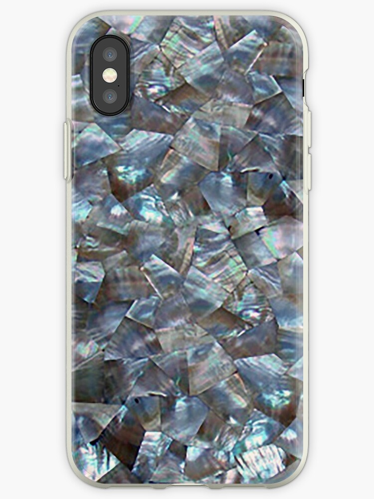 Mother Of Pearl Blue Dark Tile Star Diamond by SOVART69