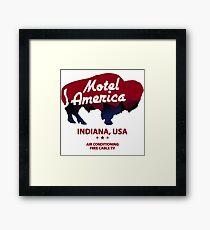Motel America Framed Print