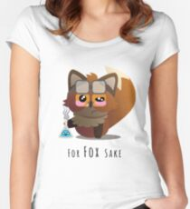 For Fox Sake- Science! Women's Fitted Scoop T-Shirt