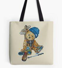 Hill Walking Teddy Bear Tote Bag