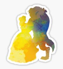 Princess and Prince Dancing Inspired Silhouette Sticker