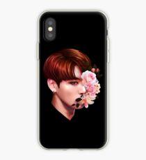 Vinilo o funda para iPhone Flores + Jungkook
