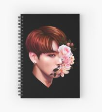 Flowers + Jungkook Spiral Notebook