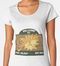 Welcome to Sunnydale : Inspired by Buffy The Vampire Slayer Women's Premium T-Shirt