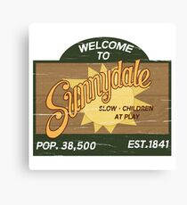 Welcome to Sunnydale : Inspired by Buffy The Vampire Slayer Canvas Print