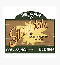 Welcome to Sunnydale : Inspired by Buffy The Vampire Slayer Photographic Print