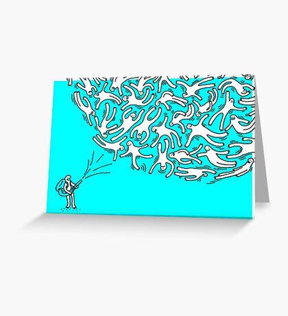 TEMPETE DE BONHOMME Greeting Card