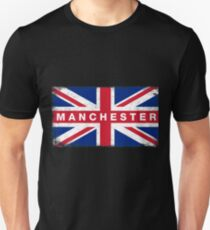 Manchester Shirt Vintage United Kingdom Flag T-Shirt Unisex T-Shirt