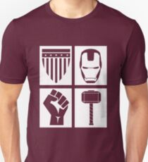 Four Avenge - Outline White Unisex T-Shirt