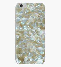 Perlmutt-weißes Dreieck mit Ziegeln gedeckt iPhone-Hülle & Cover