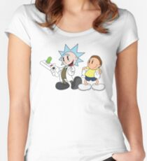Vintage Rick and Morty Women's Fitted Scoop T-Shirt