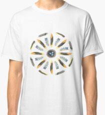 Feather Mandala 1 - White - Watercolor Classic T-Shirt