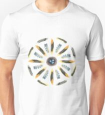 Feather Mandala 1 - White - Watercolor Unisex T-Shirt