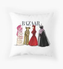 bazaardress Throw Pillow