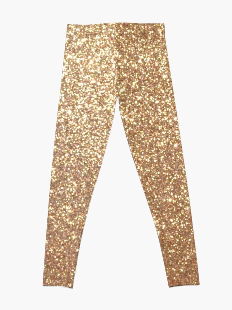 Alternate view of Copper Rose Gold Metallic Glitter Leggings