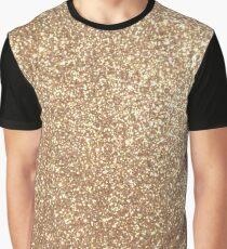 Copper Rose Gold Metallic Glitter Graphic T-Shirt