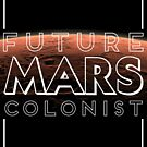 Future Mars Colonist - Black Version by HandDrawnTees