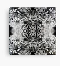 Black & White Kaleidescope Leinwanddruck