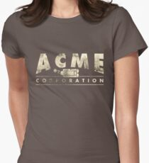 Acme Corporation Logo Womens Fitted T-Shirt