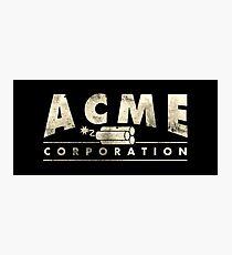 Acme Corporation Logo Photographic Print