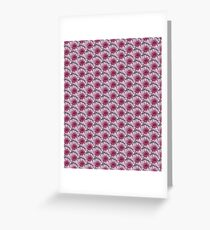 Pink, White and Grey Flowers Print Greeting Card