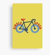 Single Speed Bike Canvas Print