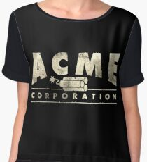 Acme Corporation Logo Chiffon Top