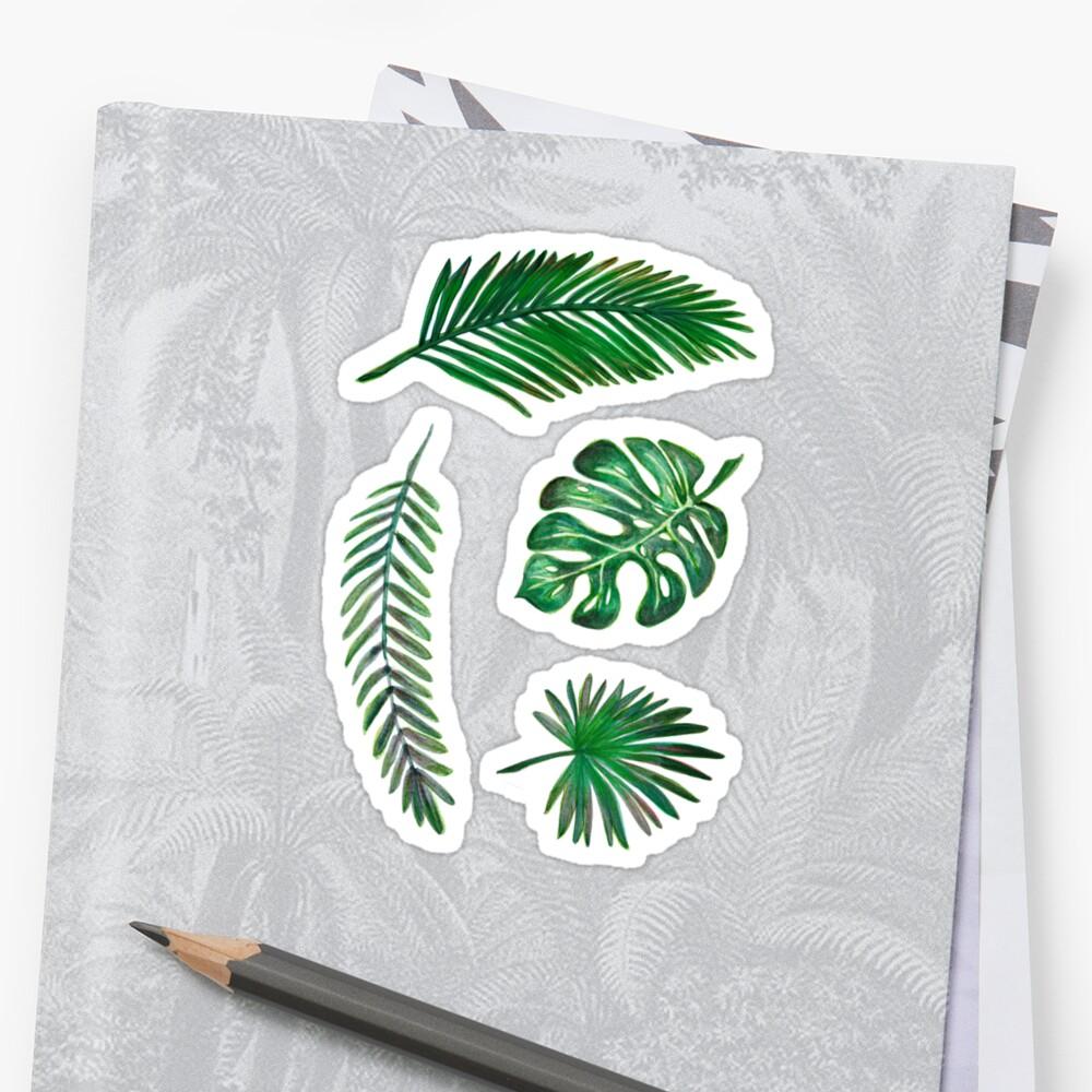 Leaf Set Stickers