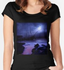 Ghost Ship Women's Fitted Scoop T-Shirt