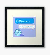 Roll Initiative Framed Print