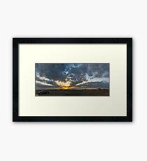SUNSET - PANORAMA Framed Print