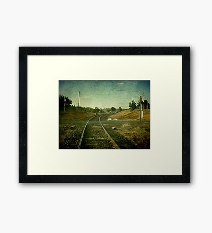 East Street Level Crossing - Uralla, NSW, Australia Framed Print
