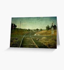 East Street Level Crossing - Uralla, NSW, Australia Greeting Card