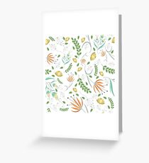 Floral white pattern Greeting Card