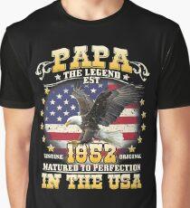 Papa the Legend Born 1952 Graphic T-Shirt