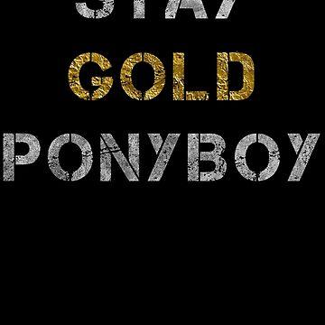 Stay Gold Ponyboy by zingarostudios