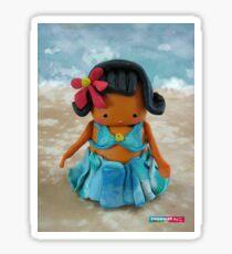 CHUNKIE Hula Girl Sticker