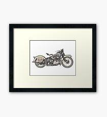 1936 Harley Davidson Motorcycle Framed Print