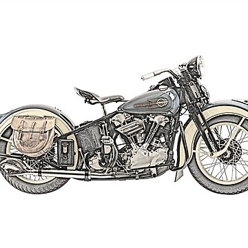 1936 Harley Davidson Motorcycle by surgedesigns