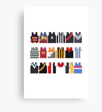AFL Team Guernseys Canvas Print