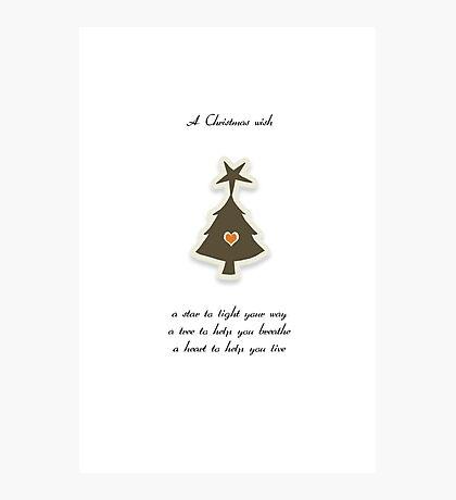 Christmas Card - Retro Wish Tree Photographic Print
