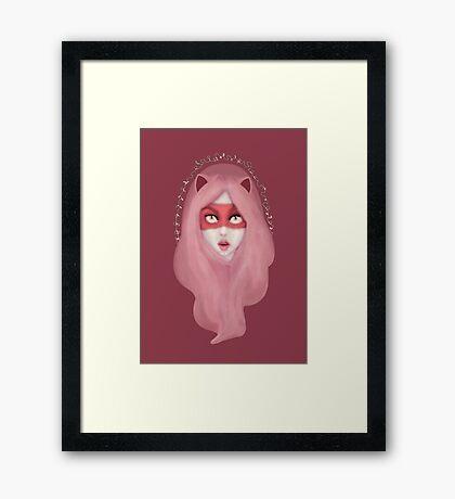 kitty.pink.power Framed Print